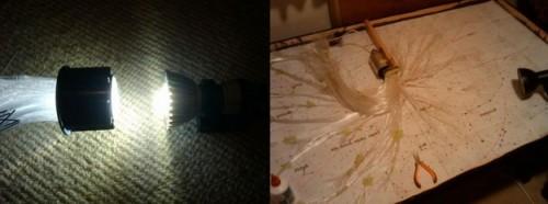Процесс разборки старого светильника