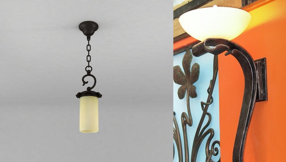 Кованый светильник своими руками из 900