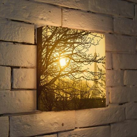 Вариант 3d светильника в виде картины