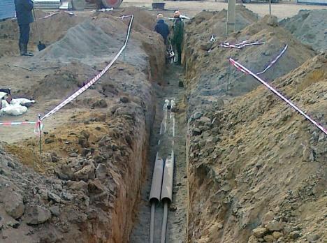Трубы для защиты кабелей в траншее