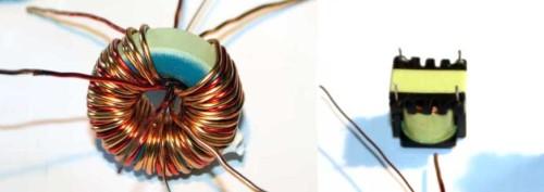 Обмотка катушки для трансформатора