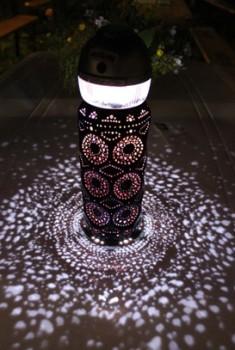 Светильник сделанный из пивной банки