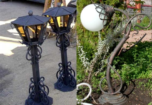 Вариант кованных уличных парковых фонариков