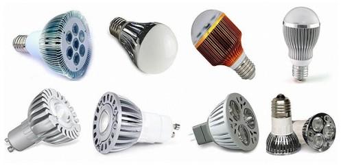 Ассортимент лампочек разного типа