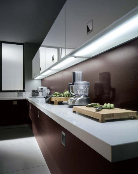 Организация рабочей подсветки на кухне