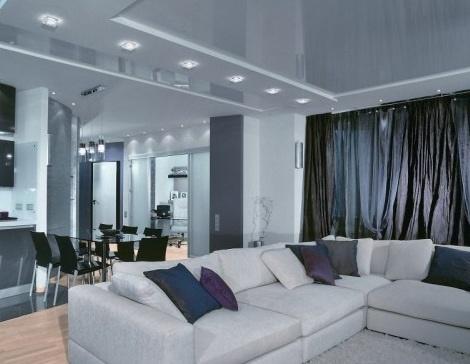 Зональный вариант освещения в комнате