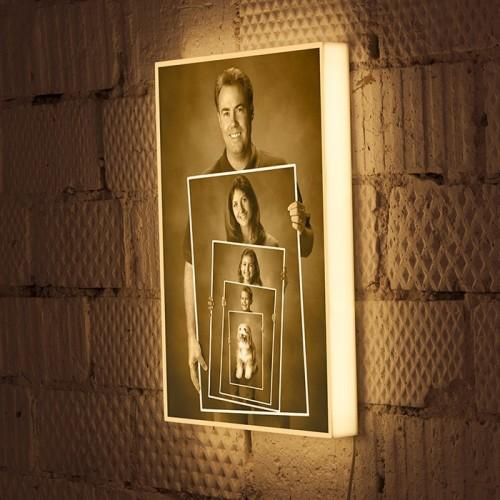 Вариант светильника с картиной в картине
