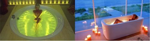 Пример ванной со встроенной подсветкой