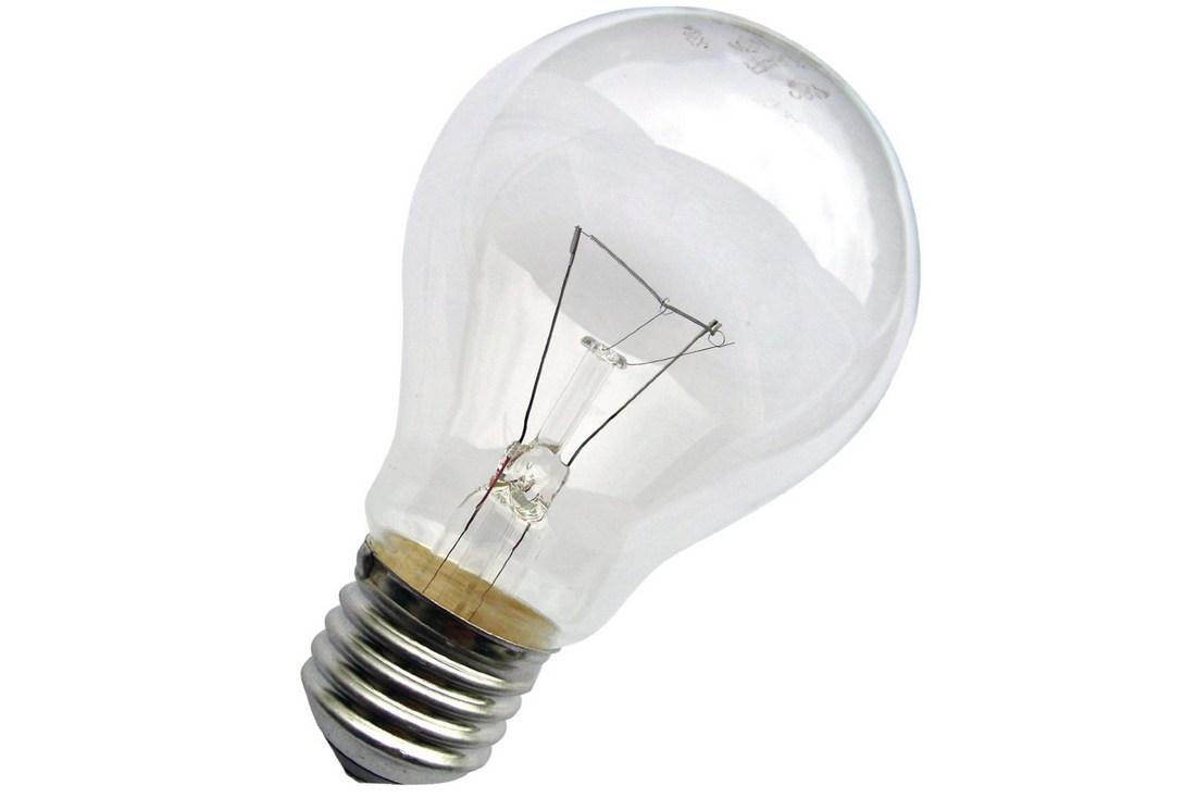 Внешний вид лампы накаливания