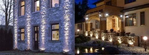 Вариант акцентированной подсветки зданий