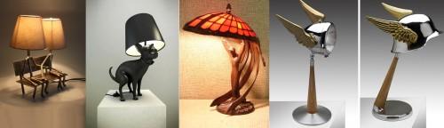 Пример фигурных эстетических светильников