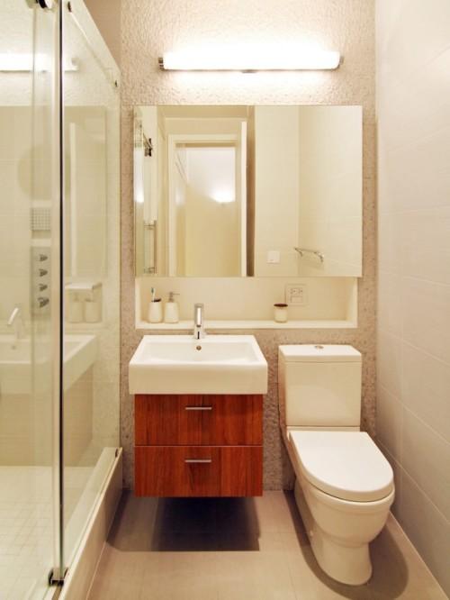 Применение накладных спотов в ванной комнате