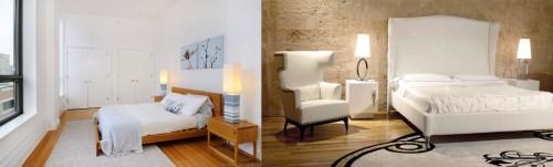 Светильники вписывающиеся в общий интерьер спальни