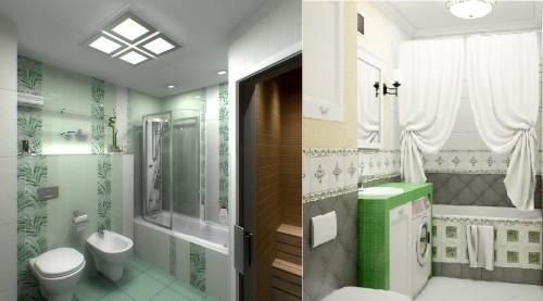 Применение плоских люстр в ванной