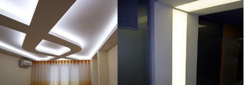 Применение панно для освещения в офисе