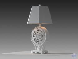 Настольная лампа выполненная в белом цвете