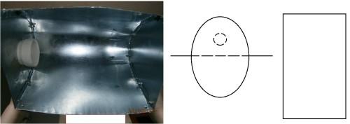 Простой рефлектор из трех компонентов