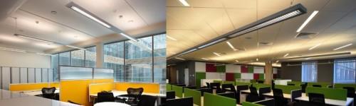 Подвесные светильники над рабочими столами