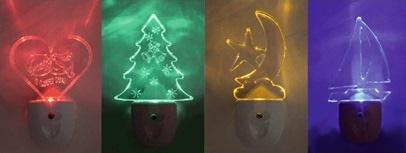 Ночники TDM-Electric в различной тематике и подсветкой разного цвета