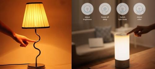 Лампы оснащенные сенсорами для включения по касанию
