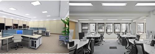 Организация офисного освещения панелями армстронг