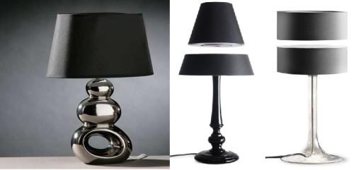 Светильники с оригинальными абажурами и ножками