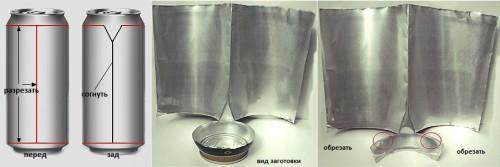Вариант рефлектора из алюминиевой банки
