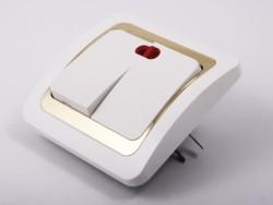 Вариант выключателя с встроенной лампочкой