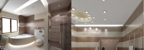 Применение светодиодных лент и спотов в освещении лампы