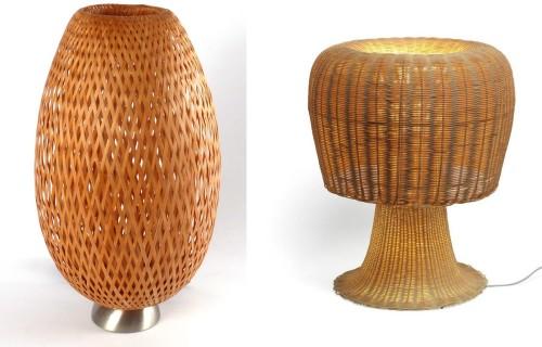 Плетенные абажуры для стильных светильников