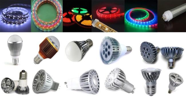 Разновидности светодиодного типа ламп