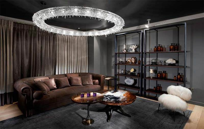 Современные потолочные люстры в дизайне