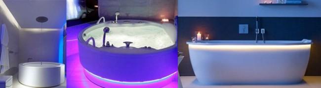Подсветка чаши ванны