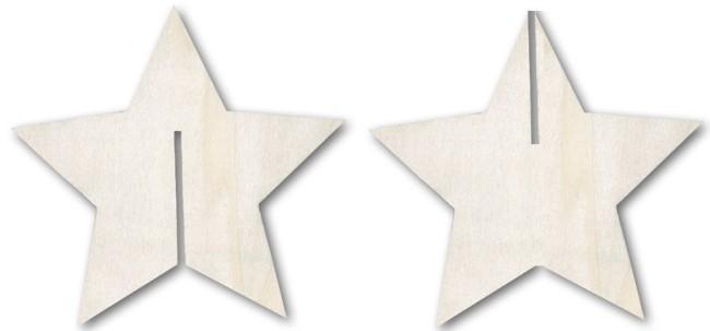 Вариант заготовок для создания объемной звезды
