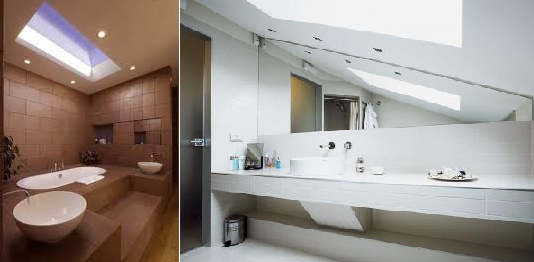 Применение панно для освещения в ванной