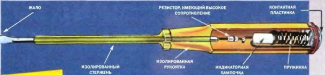 Схема устройства индикаторных отверток