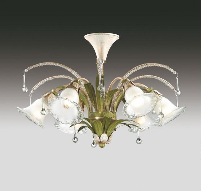 Пример люстры в стиле флористика