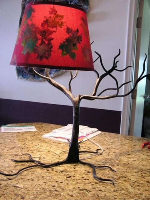 Вариант лампы сделанной из коряги