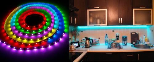Применения разноцветных светодиодов