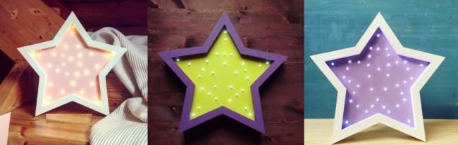 Раскрашенная рамка звезды со светодиодами