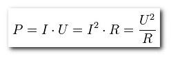 Формула вычисления мощности