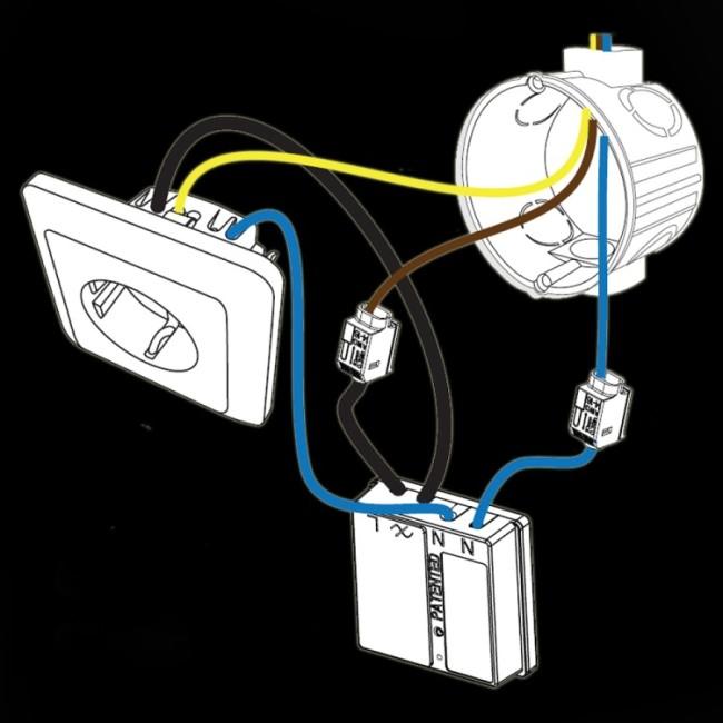 Схема монтажа силового блока