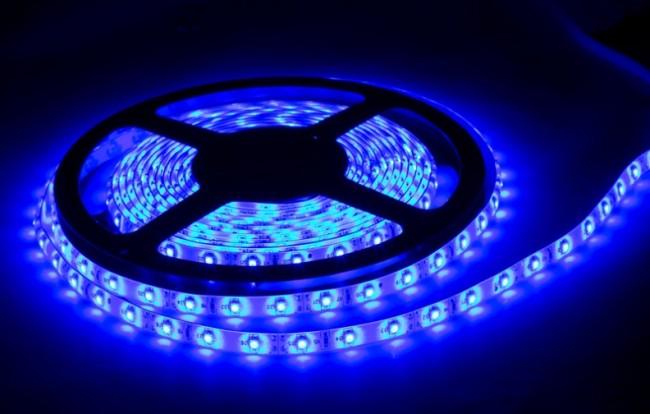 Пример цветной светодиодной ленты