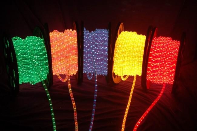 Котушки со светодиодными шнурами