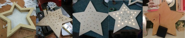 Изготовление светодиодного светильника в форме звезды