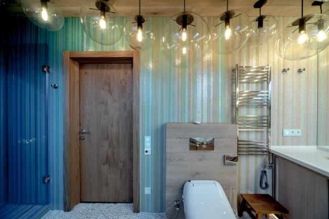 Вариант оформления ванной путем применения нестандартных решений