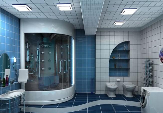 Применение парных светильников для ванной