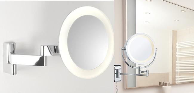 Зеркало с подсветкой на подвижной ножке