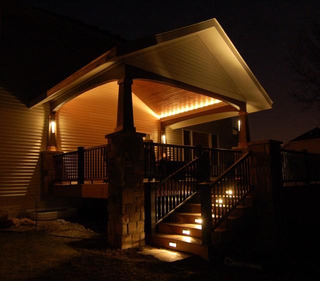 Светодиодная подсветка крыльца