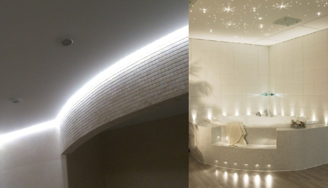 Светодиодная подсветка ванной